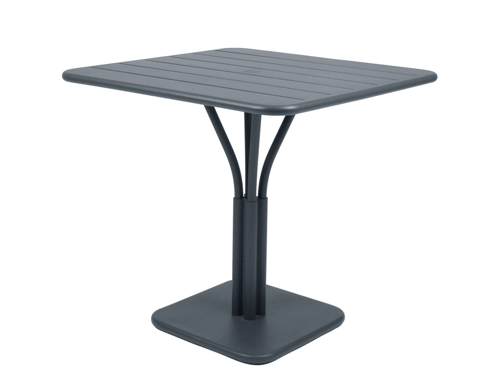 Luxembourg table 80 x 80 with 1 leg – Storm Grey
