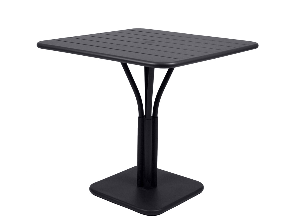 Luxembourg table 80 x 80 with 1 leg – Liquorice