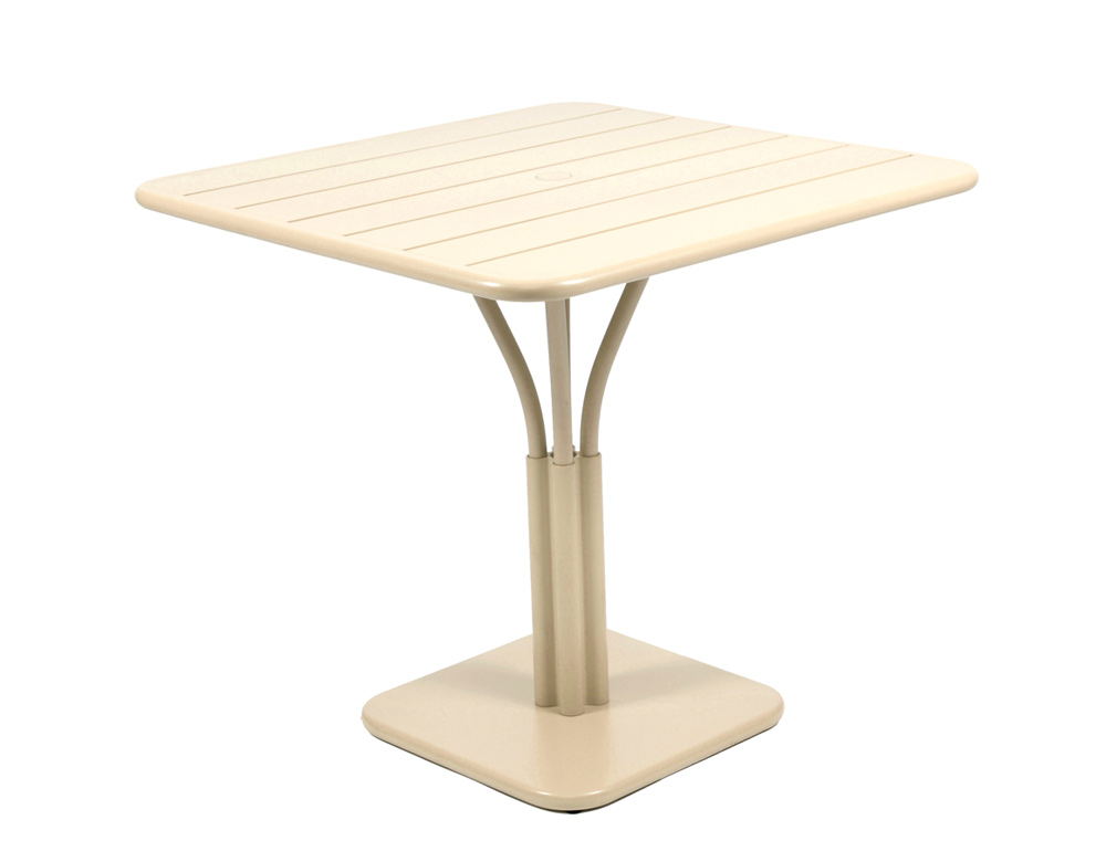 Luxembourg table 80 x 80 with 1 leg – Linen