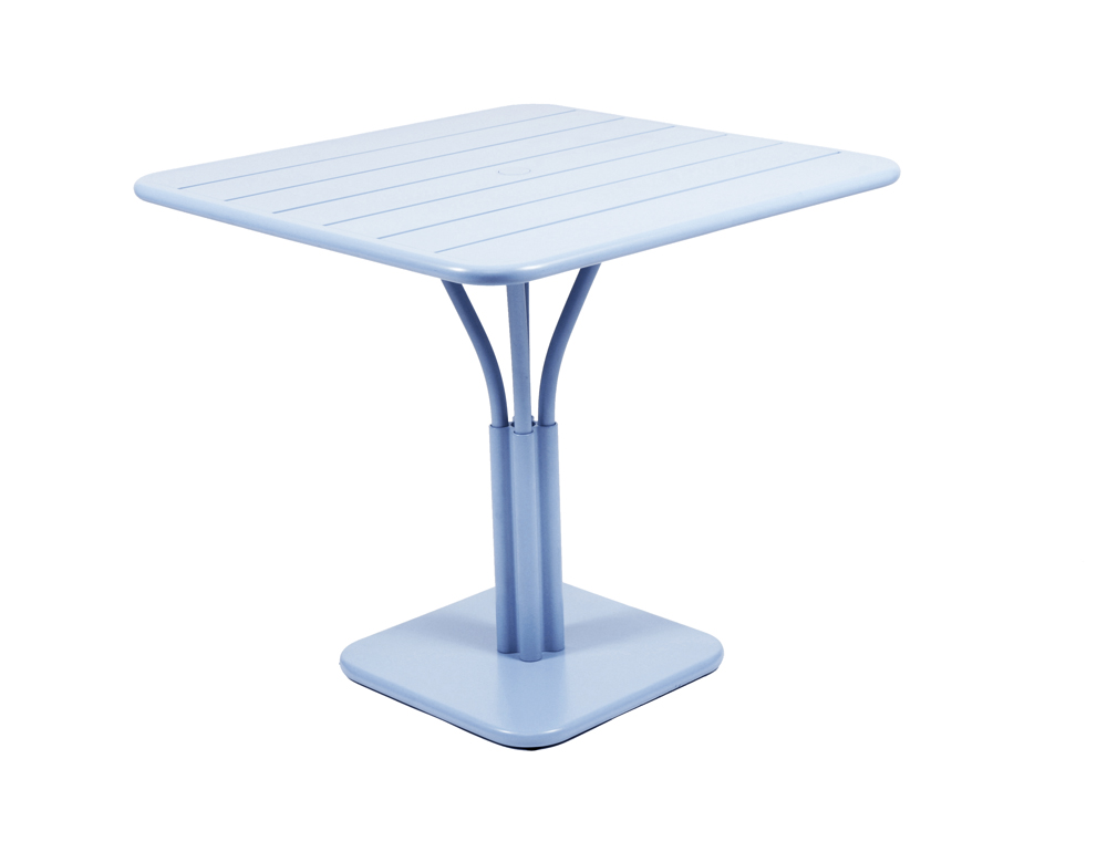 Luxembourg table 80 x 80 with 1 leg – Fjord Blue