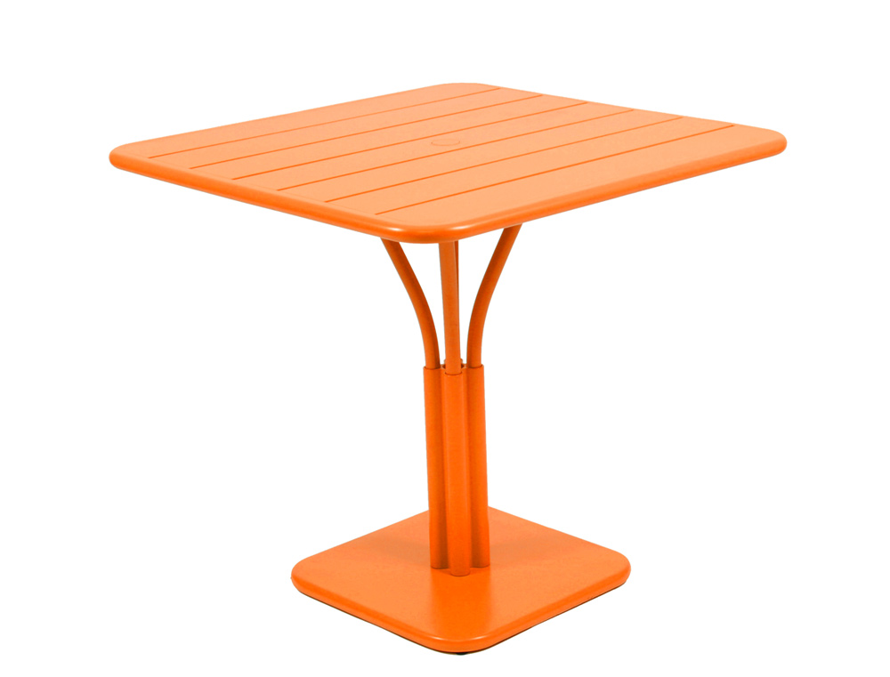 Luxembourg table 80 x 80 with 1 leg – Carrot