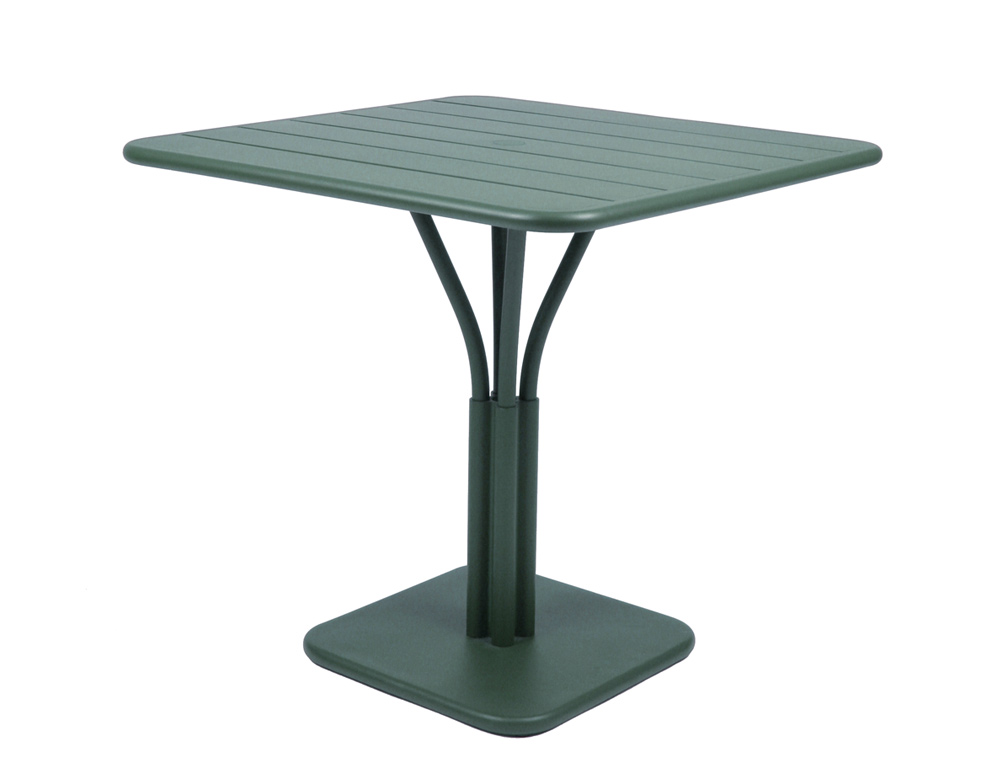 Luxembourg table 80 x 80 with 1 leg – Cedar Green