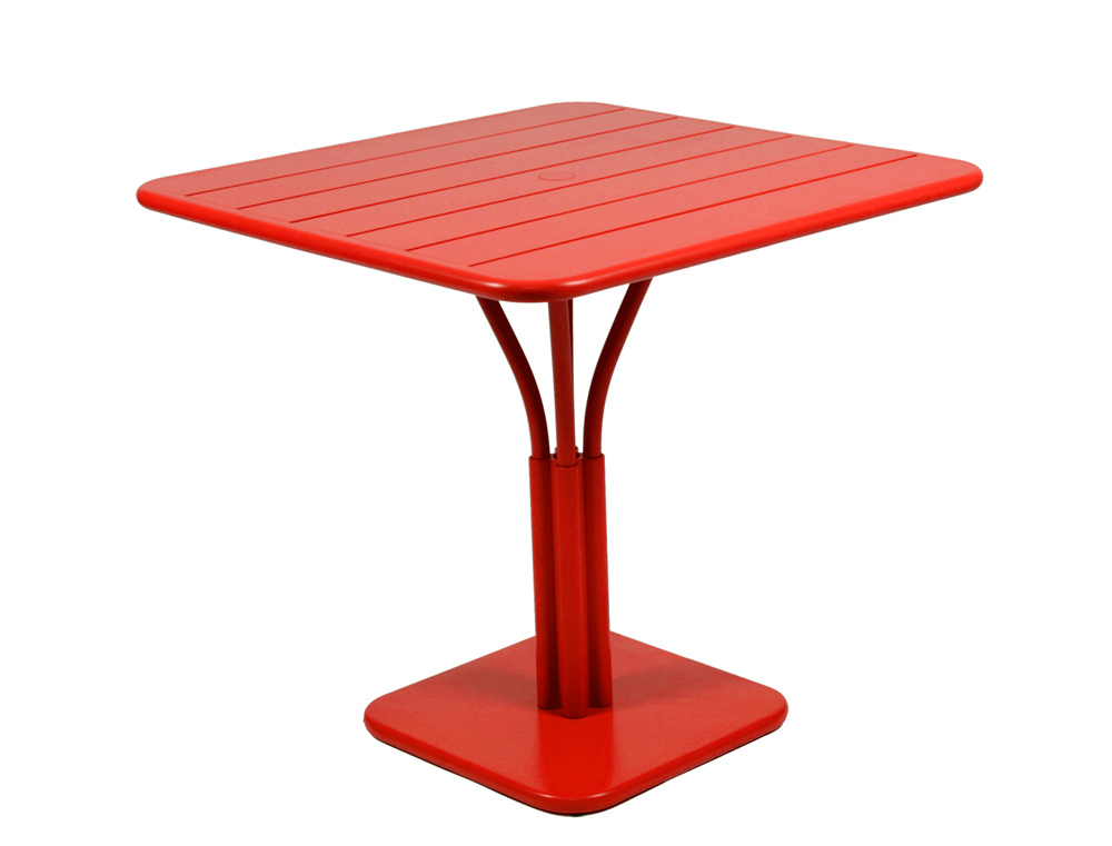 Luxembourg table 80 x 80 with 1 leg – Poppy