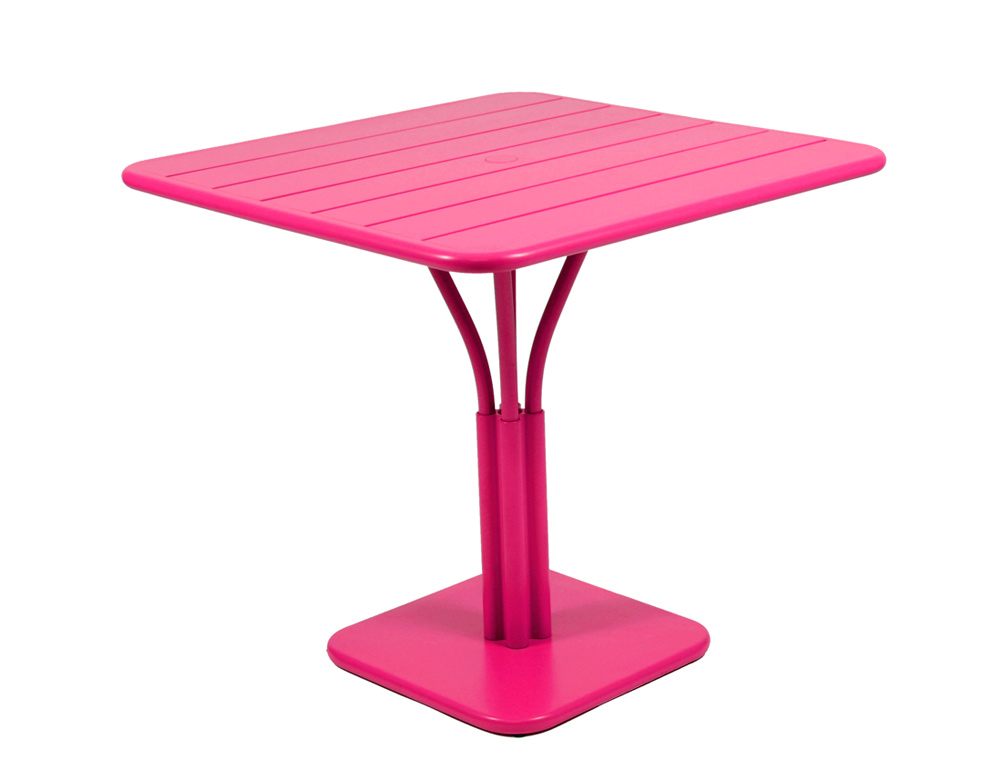 Luxembourg table 80 x 80 with 1 leg – Fuchsia