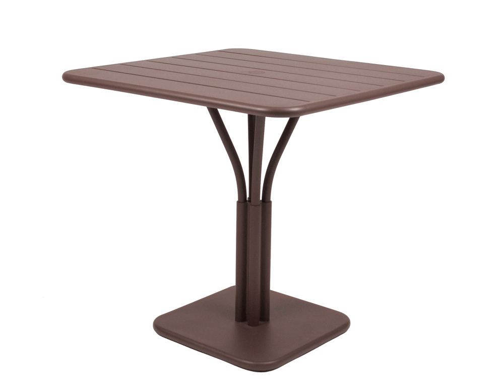 Luxembourg table 80 x 80 with 1 leg – Russet