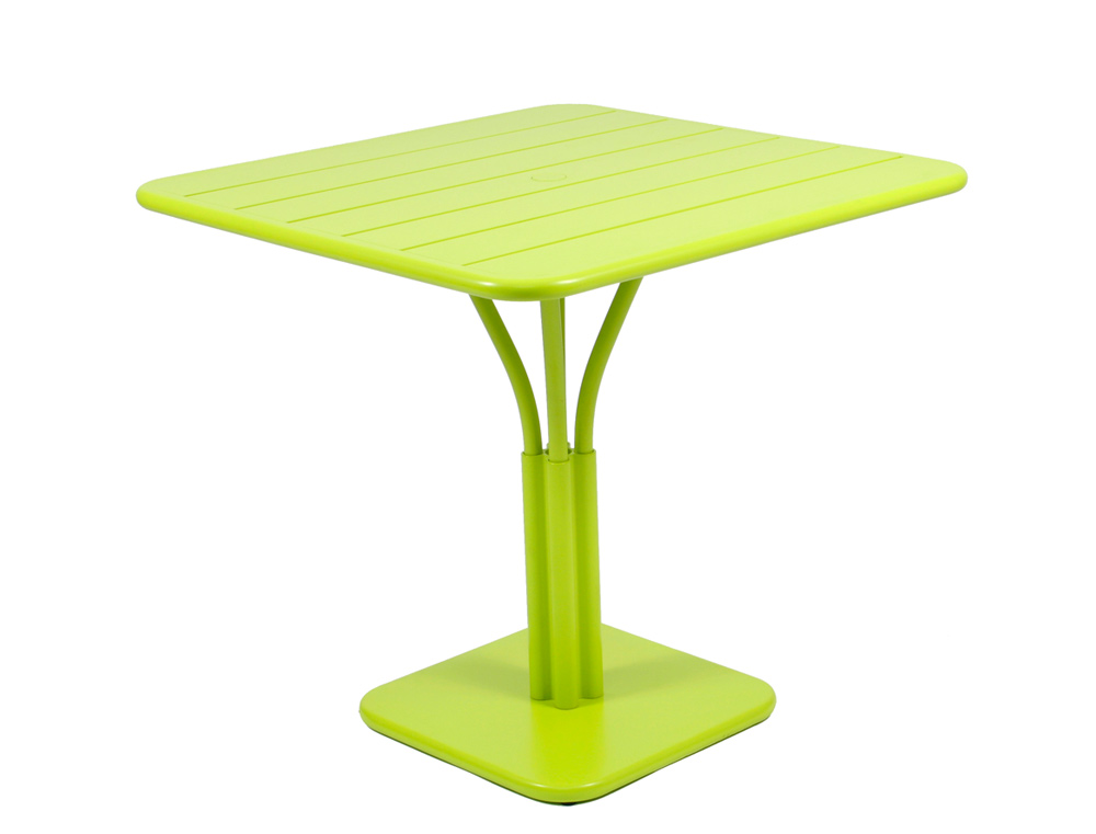 Luxembourg table 80 x 80 with 1 leg – Verbena