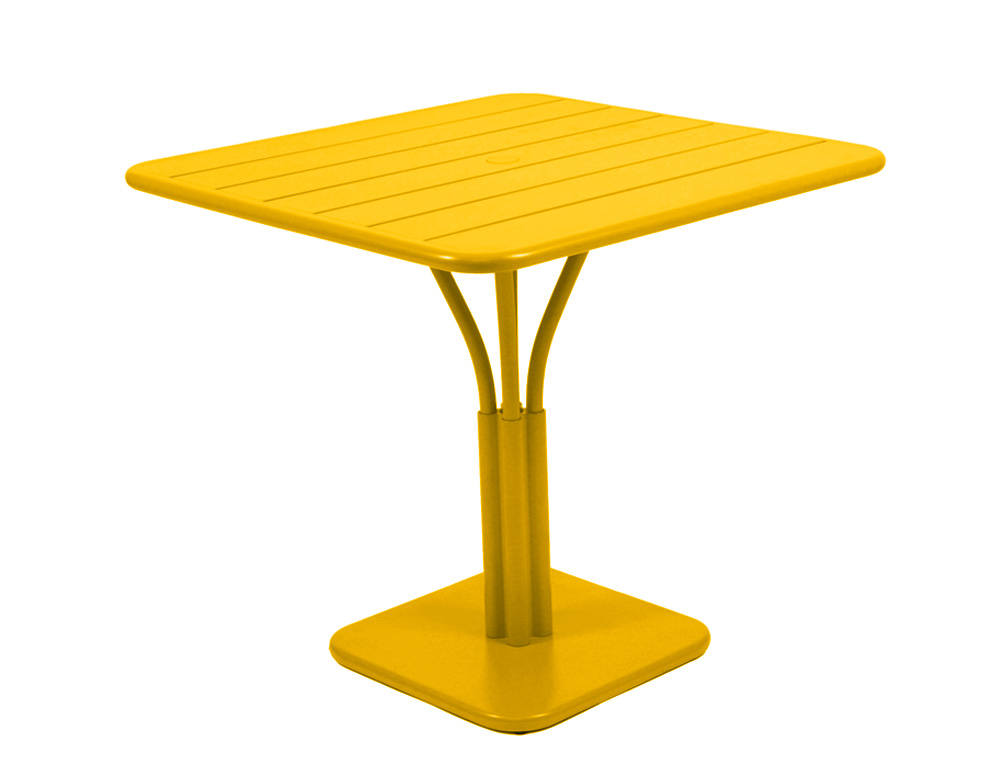 Luxembourg table 80 x 80 with 1 leg – Honey