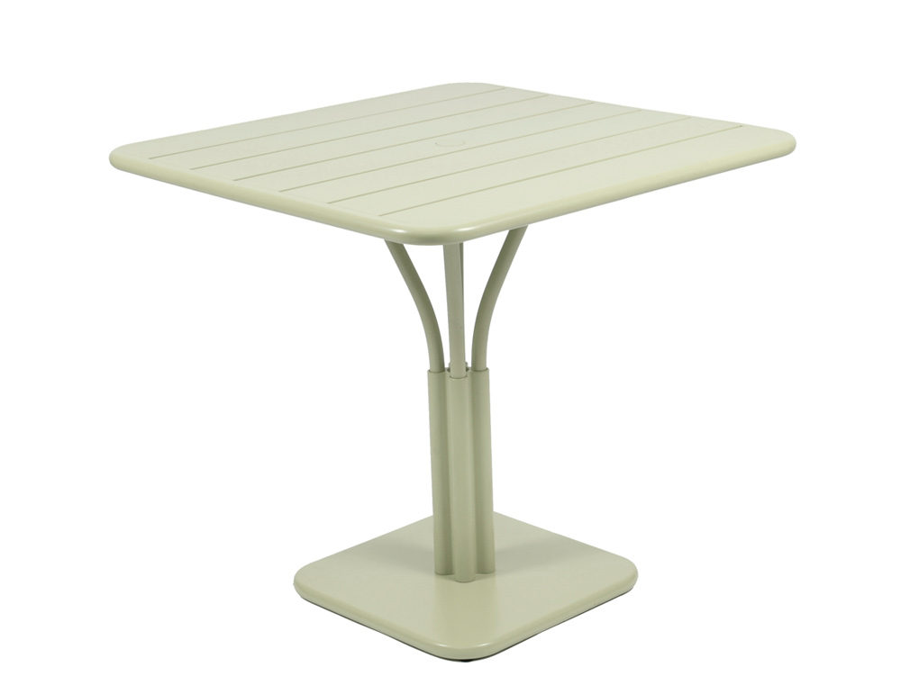 Luxembourg table 80 x 80 with 1 leg – Willow Green