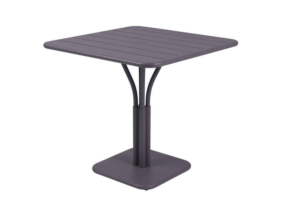 Luxembourg table 80 x 80 with 1 leg – Plum