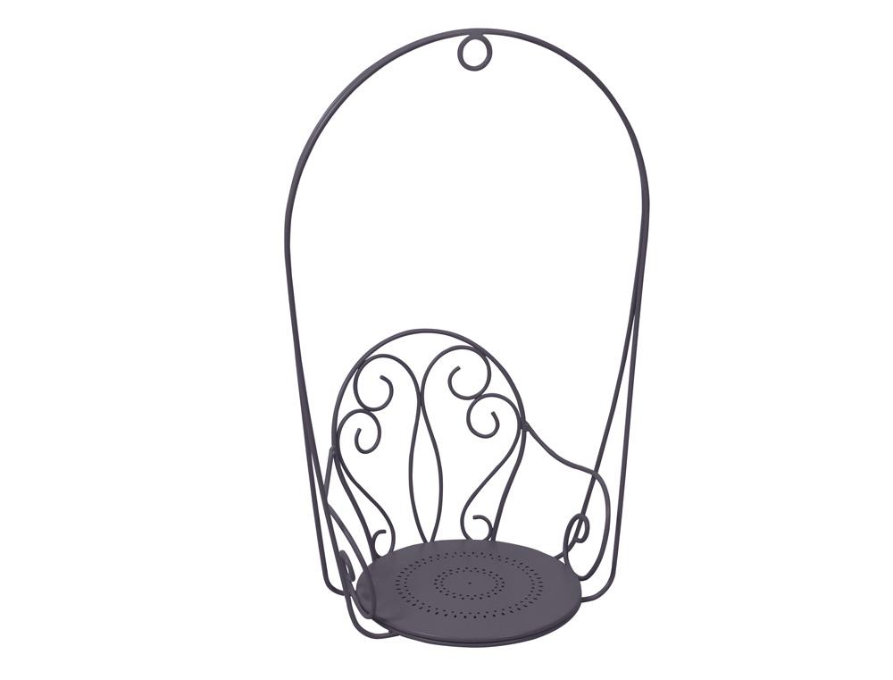 Monmartre hanging armchair – Plum