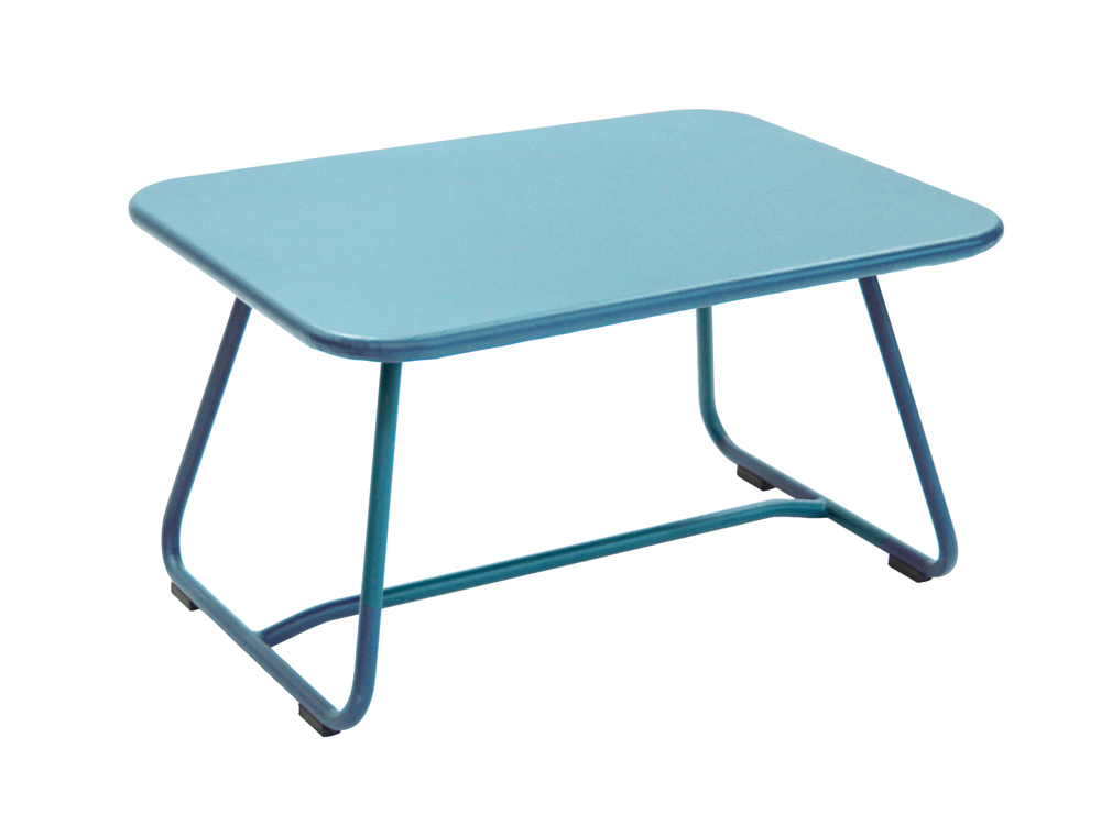 Sixties low table – Turquoise Blue