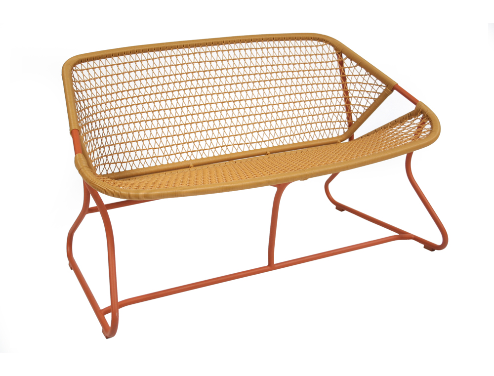 Sixties bench – Paprika