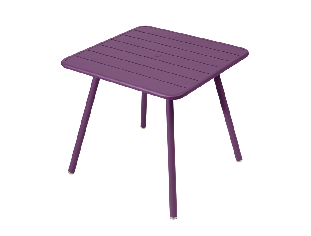 Luxembourg table 80 x 80 with 4 legs – Aubergine