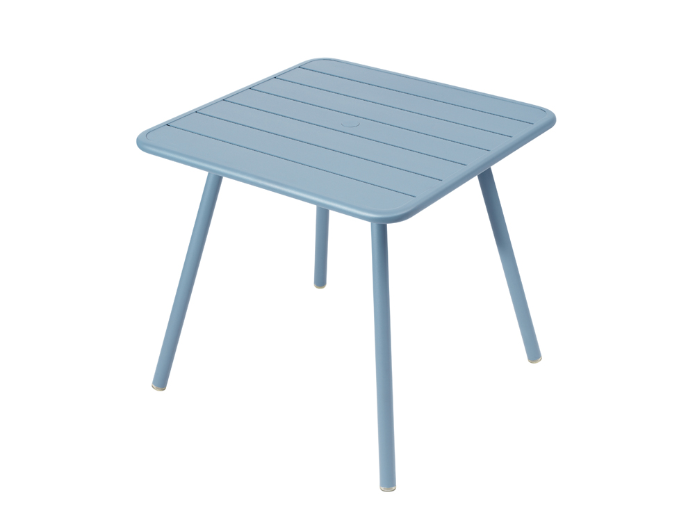 Luxembourg table 80 x 80 with 4 legs – Fjord Blue