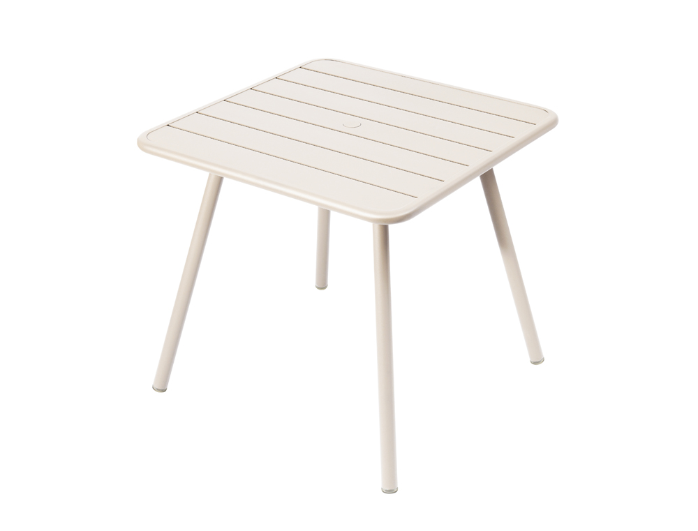 Luxembourg table 80 x 80 with 4 legs – Linen
