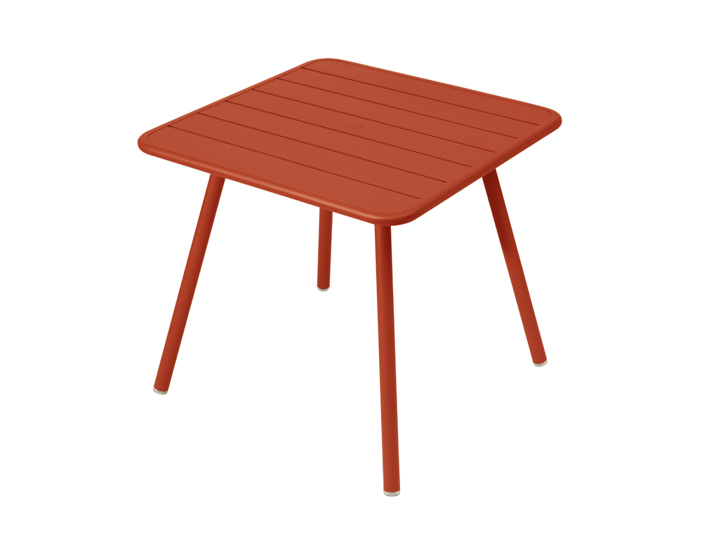 Luxembourg table 80 x 80 with 4 legs – Paprika