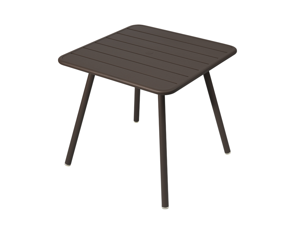 Luxembourg table 80 x 80 with 4 legs – Russet