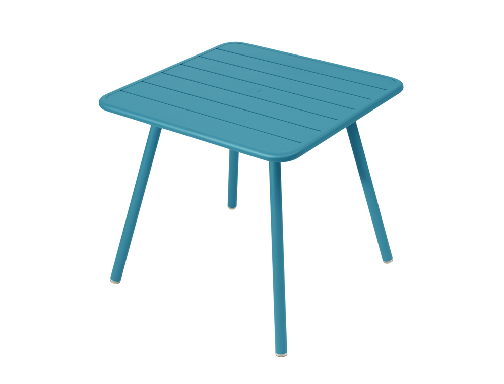 Luxembourg table 80 x 80 with 4 legs – Turquoise Blue
