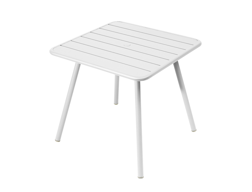 Luxembourg table 80 x 80 with 4 legs – Cotton White
