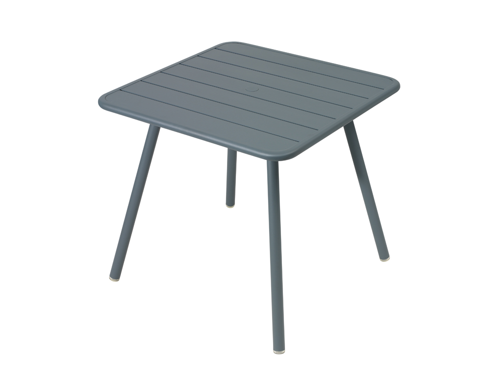 Luxembourg table 80 x 80 with 4 legs – Storm Grey