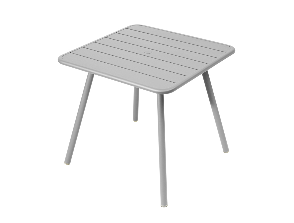 Luxembourg table 80 x 80 with 4 legs – Steel Grey