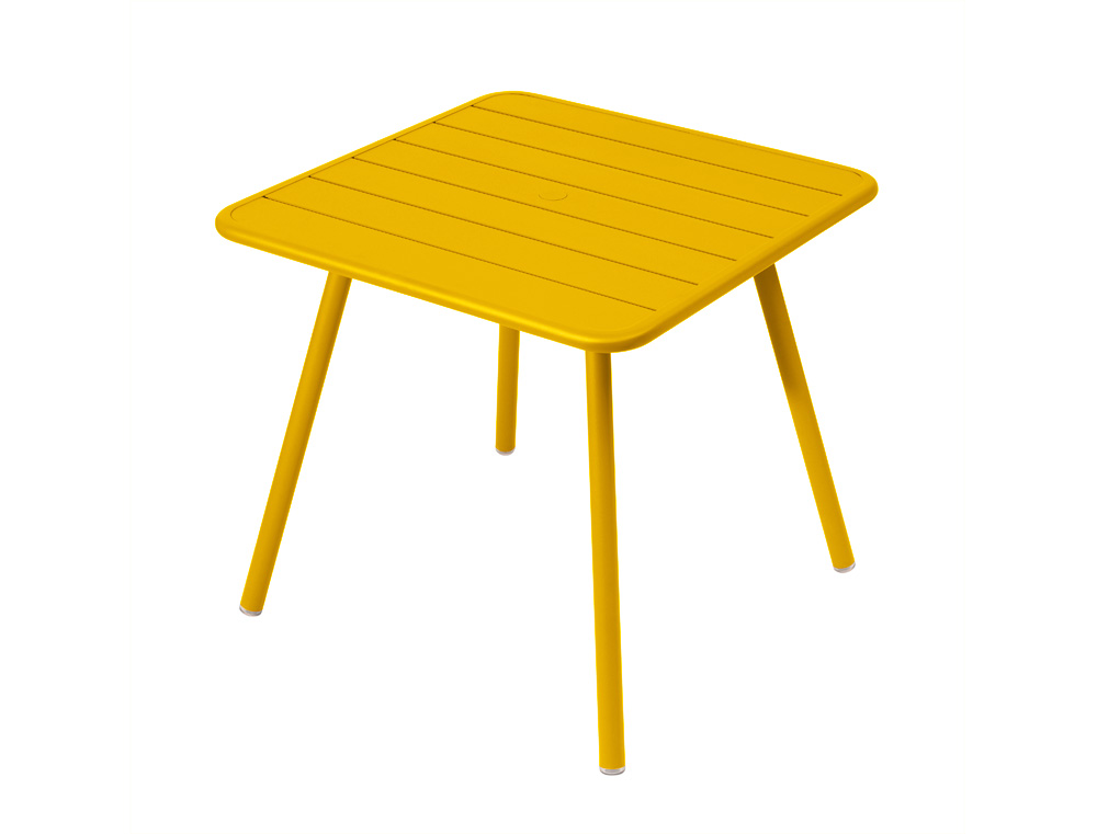 Luxembourg table 80 x 80 with 4 legs – Honey