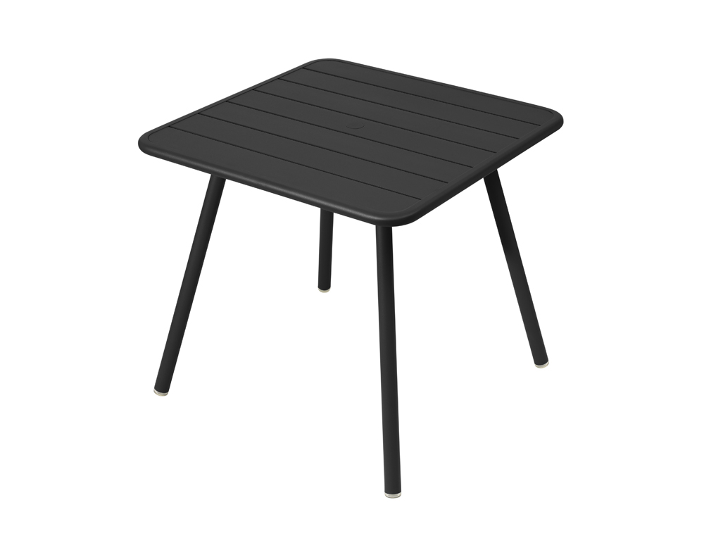 Luxembourg table 80 x 80 with 4 legs – Liquorice