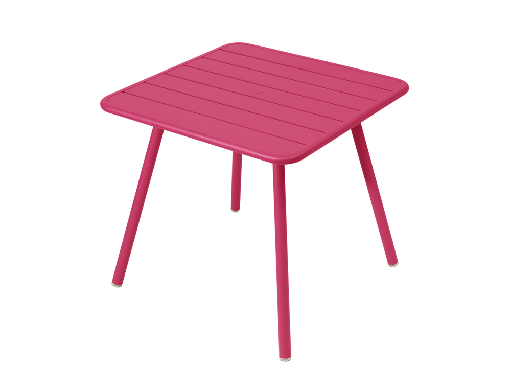 Luxembourg table 80 x 80 with 4 legs – Fuchsia