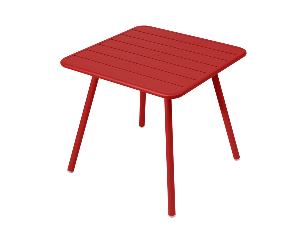 Luxembourg table 80 x 80 with 4 legs – Poppy