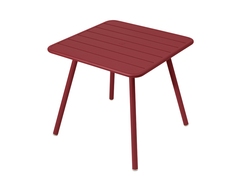 Luxembourg table 80 x 80 with 4 legs – Chili