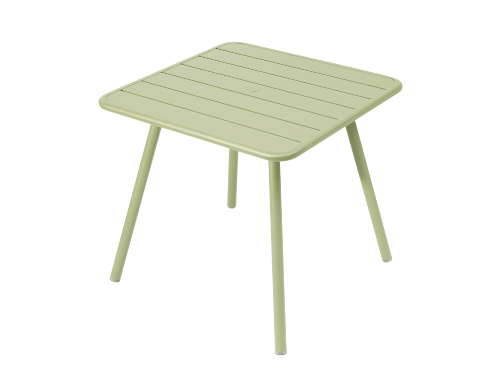 Luxembourg table 80 x 80 with 4 legs – Willow Green