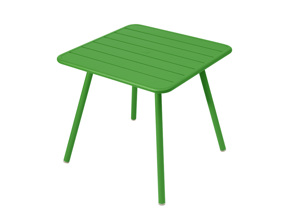 Luxembourg table 80 x 80 with 4 legs – Grass Green