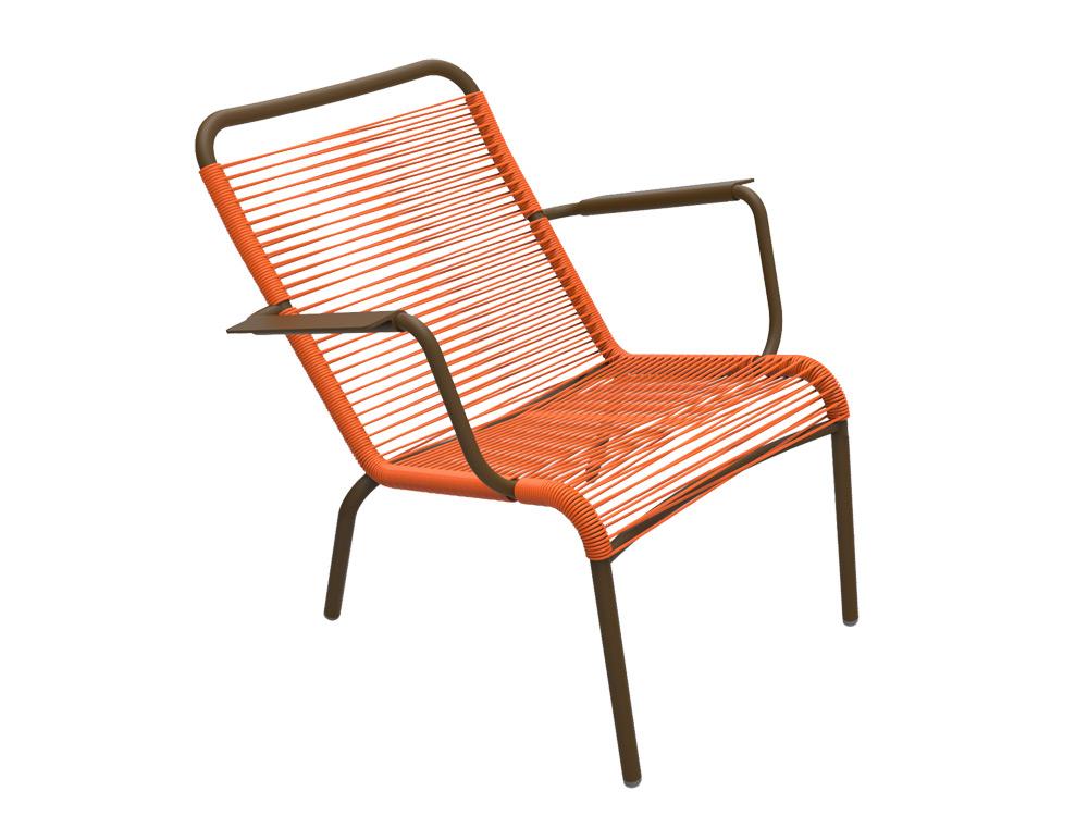 Saint Tropez low armchair – Russet