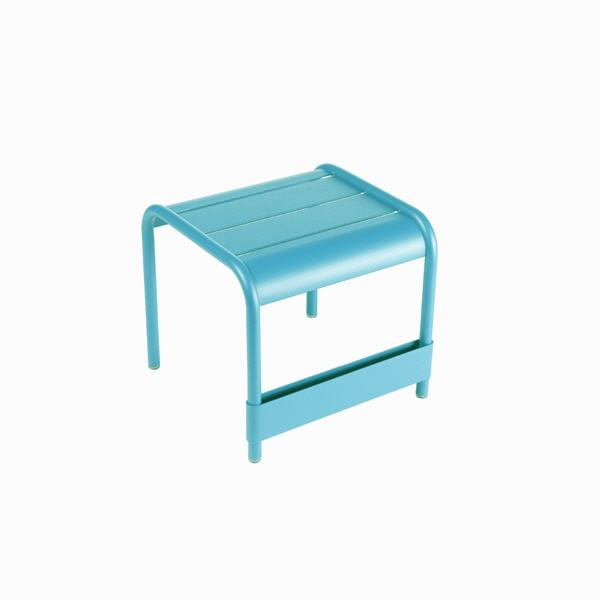 Luxembourg small low table/footrest – Turquoise Blue